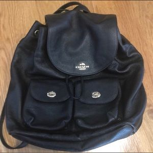 NEVER USED coach mini backpack with gold hardware